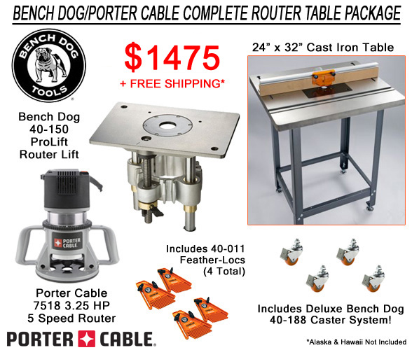 Bench Dog Router Table Package