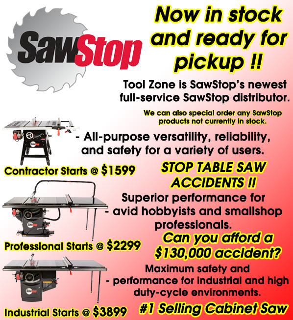 Saw Stop now available at Tool Zone